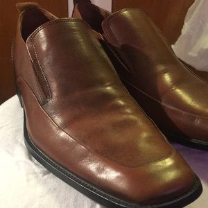 Steve Madden brown leather men's loafers size 11